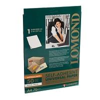 Самоклеющаяся бумага Lomond А4: универсально