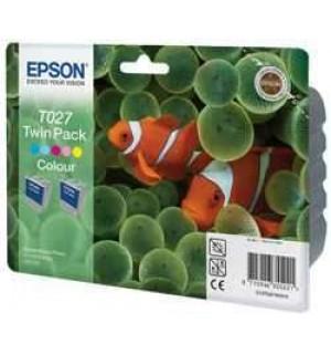 T027403 ДВОЙНАЯ УПАКОВКА. Картриджи для Epson Stylus Photo 810/830/830U/925/935 цветной (2*220 стр.)