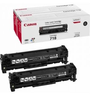 Canon Cartridge 718BK2P [2662B005] Двойная упаковка картриджей  для Canon i-SENSYS MF8330/ MF8340/ MF8350/ MF8360/ MF8380/ MF8540/ MF8550/ MF8580/ MF724/ MF728/ MF729/ LBP 7200/7210/ 7660/ 7680 Black (2*3400с.)