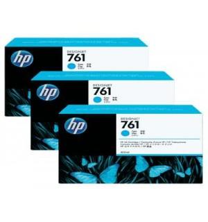 CR272A HP 761 картриджи для DesignJet T7100, тройная упаковка, Голубой (400 мл.)