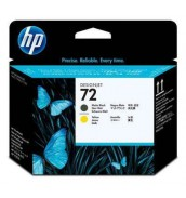 C9384A HP 72 Печатающая головка матово-черная и желтая для плоттеров HP DesignJet T610/T620/T770/T790/ T795T1100/T1120/T1200/T1300/T2300