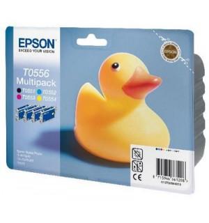 T055640A0 = C13T05564010 Набор картриджей для Epson Stylus Photo R240/245; RX400/420/425/520/540 (Bk+С+M+Y)