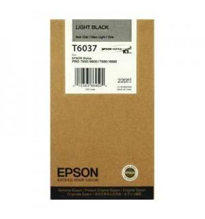 T6037 / T603700 Картридж для Epson Stylus Pro 7800/ 7880/ 9800/ 9880, LightBlack (220 мл.)