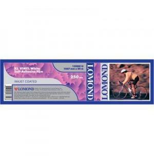 Рулон пленки LOMOND, Самоклеющийся винил (бумажная подложка), 250 мкм (1067ммх20м х 50,8мм) [1208013]