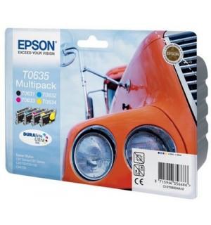 T0635 / T06354A = C13T06354A10 Набор картриджей для Epson Stylus C67/ C87, CX3700/ CX4100/ CX4700 (Bk+C+M+Y)