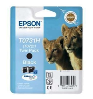 T0721 / T07214A=T0731H=T10414 DOUBLE PACK Картридж для Epson Stylus C110/ CX7300/ CX8300/CX9300F/ TX200/ TX209/ TX210/ TX219/ TX300F/ TX400/ TX409/TX410/ TX419/ TX510FN/ TX550W/ TX600FW/ T30/ T40W/ Т1100  Black 2* 11.1ml