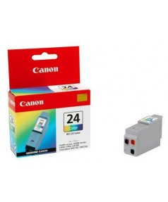 BCI-24C [6882A002] Цветная чернильница к i250/ 320/ 350/ 450/ 455/ 470D/ 475D; S200/ 300/ 330; MPC190/ MPC200; iP1000/ 1500/ 2000; MP110/ MP130/ MP360/ MP370/ MP390 (1*120 стр.) за 1 шт.