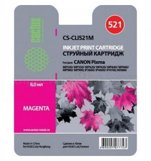 CLI-521M Совместимый картридж Cactus CS-CLI521M для Canon Pixma MP540 MP550 MP620 MP630 MP640 MP660