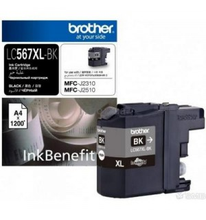 LC-567XLBK  Картридж для Brother MFCJ2510, Black (1200 стр)