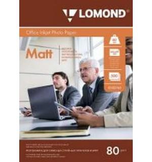 080 Бумага LOMOND A4 INC JET 80 г/ м2 500 л. Экономичная матовая двухсторонняя [0102161]