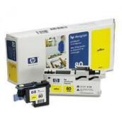 C4823A HP 80 Голова (printheads and printhead cleaners) для плоттера HP DesignJet 1050с/ с+/ 1055cm/ cm+ (Yellow)