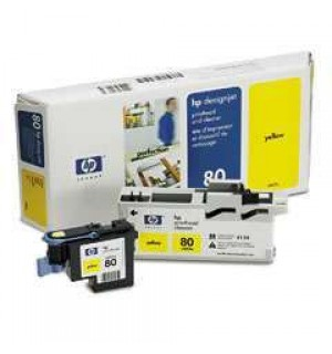 C4823A HP 80 Голова (printheads and printhead cleaners) для плоттера HP DesignJet 1050с/ с+/ 1055cm/ cm+ (Yellow)