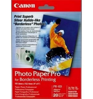 PR-101cards Бумага Canon Photo Paper Pro, на основе галогенида серебра, 28лет, 10x15 см, 240г/ м2 (2
