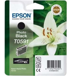 T0591 / T059140 OEM Картридж для Epson Stylus Photo R2400 Bk (440 стр.)