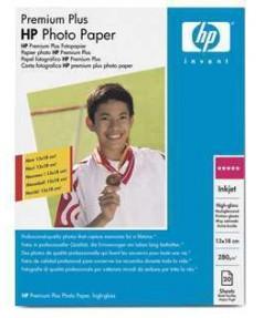 Q6572A HP Premium+ Photo Paper. Глянцевая фотобумага высш. кач-ва для печати без полей, 13х18, 280 г
