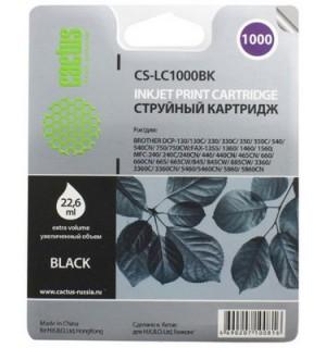 LC-1000BK Совместимый Картридж Cactus для Brother DCP130C/ 330С/ 540, MFC-240C/ 440CN/ 465CN/ 660CN/