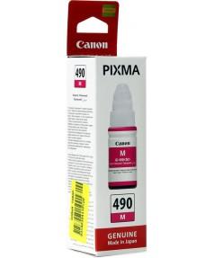 GI-490 M [0665C001] Картридж Canon для PIXMA G1400/G2400/G3400, пурпурные чернила на основе красителей, 70мл.
