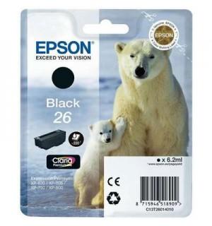 T2611 / T26114 Картридж черный-фото (№26) для Epson XP-600/ 605/ 700/ 710/ 800/ 820 (200 фото),  Photo Black