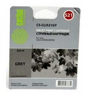 CLI-521GY Совместимый картридж Cactus CS-CLI521GY для Canon для Canon MP980 MP990, серый (8,2ml)