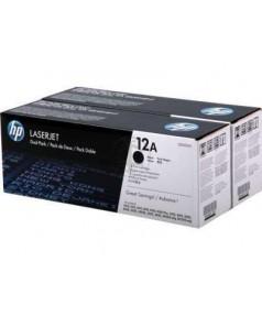 Q2612AD / Q2612AF № 12A двойная упаковка картриджей к HP LJ 1010/ 1012/ 1015/ 1018/ 1020/ 1022; 3015/ 3020/ 3050/ 3052/ 3055 / M1005 (2000 стр.*2) (оригинальный картридж)