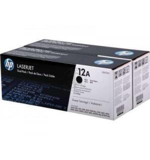 Q2612AD / Q2612AF HP 12A двойная упаковка картриджей для HP LJ 1010/ 1012/ 1015/ 1018/ 1020/ 1022; 3015/ 3020/ 3050/ 3052/ 3055 / M1005 (2000 стр.*2) (оригинальный картридж)