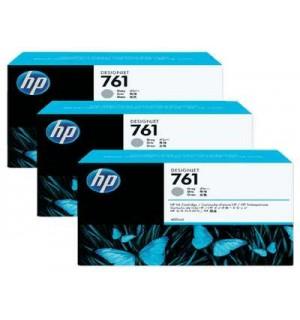 CR273A HP 761 картриджи для DesignJet T7100, тройная упаковка, Серый (400 мл.)