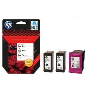F6T40AE HP 46 Набор картриджей (2 черных и 1 цветной) для Deskjet IA 2520hc/ 2020hc