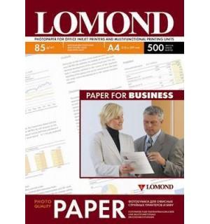 085 Бумага LOMOND A4 INC JET 85 г/ м2 500 л. матовая двухсторонняя [0102134]