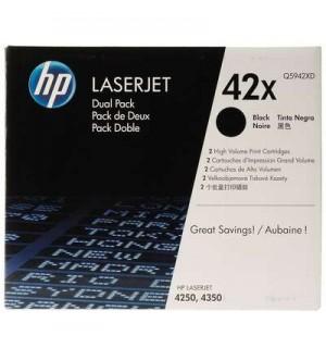 Q5942XD HP 42X Двойная упаковка картриджей для LJ 4240/ 4250/ 4350 Black (2*20000 стр.)