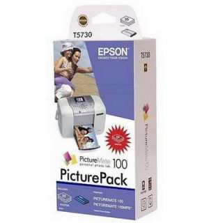 T5730 (C13T573040) Набор: картридж+ бумага для EPSON PictureMate 100 (135 стр. 10х15)