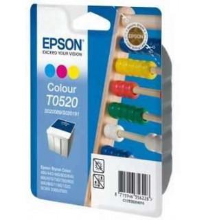 S020191 = T052040 = S020089 Картридж для Epson Stylus Color 400/ 440/ 460/ 600/ 640/ 660/ 670/ 740/ 760/ 800/ 840/ 850/ 1160/ 1520 цветной ОРИГ. (300стр.)