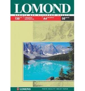 130 Бумага LOMOND A4 GLOSSY 50 л. 130 г/ м2 глянцевая односторонняя [0102017]