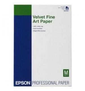 S041637 Бумага EPSON Velvet FineArt Paper A3+ (Плотный носитель из натурального хлопка (100%) с ярко