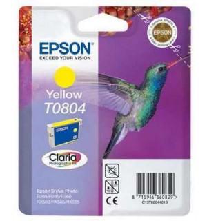 T0804 / T08044010 Картридж для Epson Stylus Photo желтый P50/ PX650/ 700w/ 710w/ 720w/ 800FW/ 810FW/ PX820FWD; RX560/ 585/ 685; R265/ 285/ 360 (330 стр.)