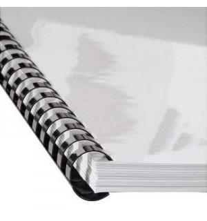 Пружина пластиковая для брошюровки, 10 мм, 21 отверстие, A4, до 80 листов, белый, Hama/GBC (25 шт.)