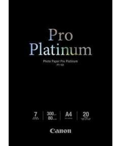 PT-101 Фотобумага CANON Pro Platinum Глянцевая, 300г/м2, A4, 20 л. 2768B016