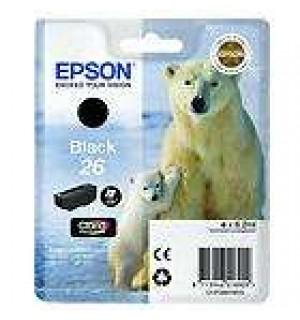 T2601 / T26014 / C13T26014010 Картридж черный (№26) для Epson XP-600/ 605/ 700/ 710/ 800/ 820 (220 стр.), Black