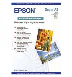 S041340 Бумага Epson Archival Mate Paper, A3+, 192 г/ м2 (50 л.)