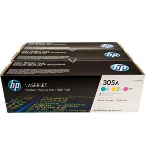 CF370AM HP 305A Набор картриджей C+M+Y (CE411A+CE412A+CE413A) для HP LJ PRO 300 color M351/ MFP M375, PRO 400 color M451/ MFP M475 (3*2600стр.)
