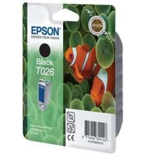 Уцененный черный картридж Epson T026401 для Epson Stylus Photo
