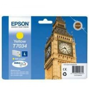 T7034 / T70344 Картридж для Epson WorkForce Pro WP 4015DN/4025DW/4515DN желтый (0,8K)