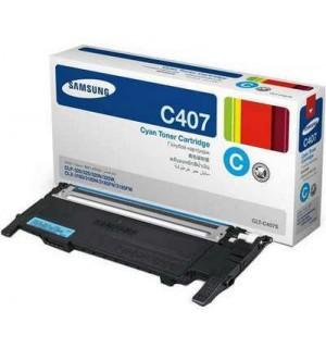 CLT-C407S Картридж Samsung к цветным принтерам для CLP-320/320N/325 / CLX-3185/3185N/3185FN Cyan (10