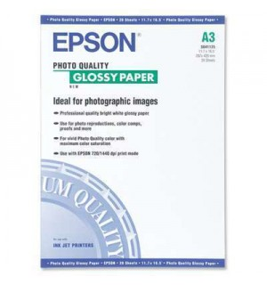 S041125 Бумага Epson Photo Quality Glossy Paper, A3, 147 г/ м2 (20 л.)