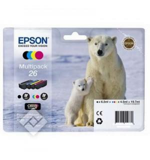 T26164 Комплект картриджей (№26 B,C,Y,M) для Epson XP-600/ 605/ 700/ 710/ 800/ 820 (300 стр.)