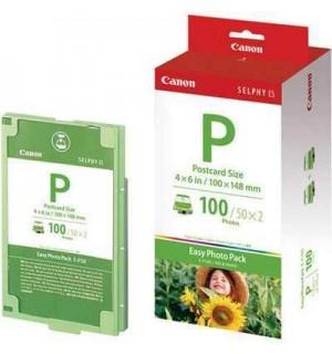 E-P100 [1335B001] Набор: Картридж + бумага для Canon Selphy ES 1 (100*148) 100 листов