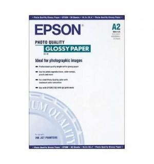 S041123 Бумага Epson Photo Quality Glossy Paper, A2, 147 г/ м2 (20 л.)