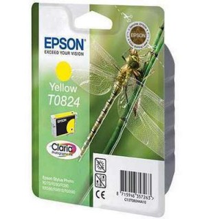 T0824 / T08244A / T11244A10 Картридж для Epson Stylus Photo  T50/T59/R270/R290/R295/R390/RX590/RX610/RX615/RX690/TX650/TX659/TX700W, TX710,TX800FW Yellow (460 стр. 7,5ml)