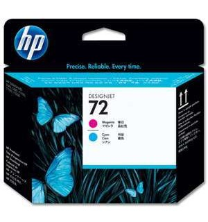 C9383A HP 72 Печатающая головка пурпурная и голубая для плоттеров HP DesignJet T610/T620/T770/T790/ T795T1100/T1120/T1200/T1300/T2300