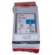 PFI-102C (Cyan) [0896B001] Картридж с чернилами для плоттера Canon IPF-500/600/610/650/655/700/710/750(картридж 130 мл)