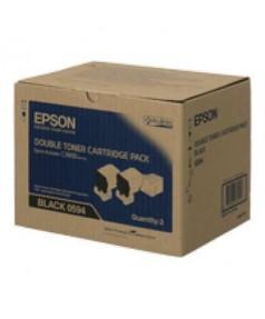 S050594 Два Тонер-картриджа Epson AcuLaser C3900N Черный (2*6000стр.)